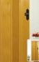 Складная дверь Гармошка Amati A09 - Двери PVC раздвижные. А-09 глухие. Размер (860*2030*18мм). Цвета: белый ясень, сосна, бук, дуб, орех.