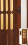 Складная дверь Гармошка Amati A10-t5 - Двери PVC раздвижные. А-10(Т5) стекло. Размер (860*2030*18мм).  Цвета: белый ясень, сосна, бук, дуб, орех.
