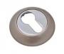 Накладка на евро цилиндр белый никель