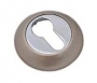 Накладка на евро цилиндр белый никель - Накладка на евро цилиндр. Цвет белый никель.