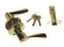 Защелка межкомнатная 860 pb et - Ручка Arsenal 860 PB ET с ключом, золото блестящее.