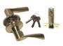 Защелка межкомнатная 860 sb et - Ручка Arsenal 860 SB ET с ключом, золото матовое.