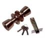 Защелка межкомнатная 3091 ac et - Замок Arsenal 3091AC ET с ключом, медь.