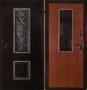 Входная дверь Грань (Антарес) Ковка № 118 Итальянский орех.